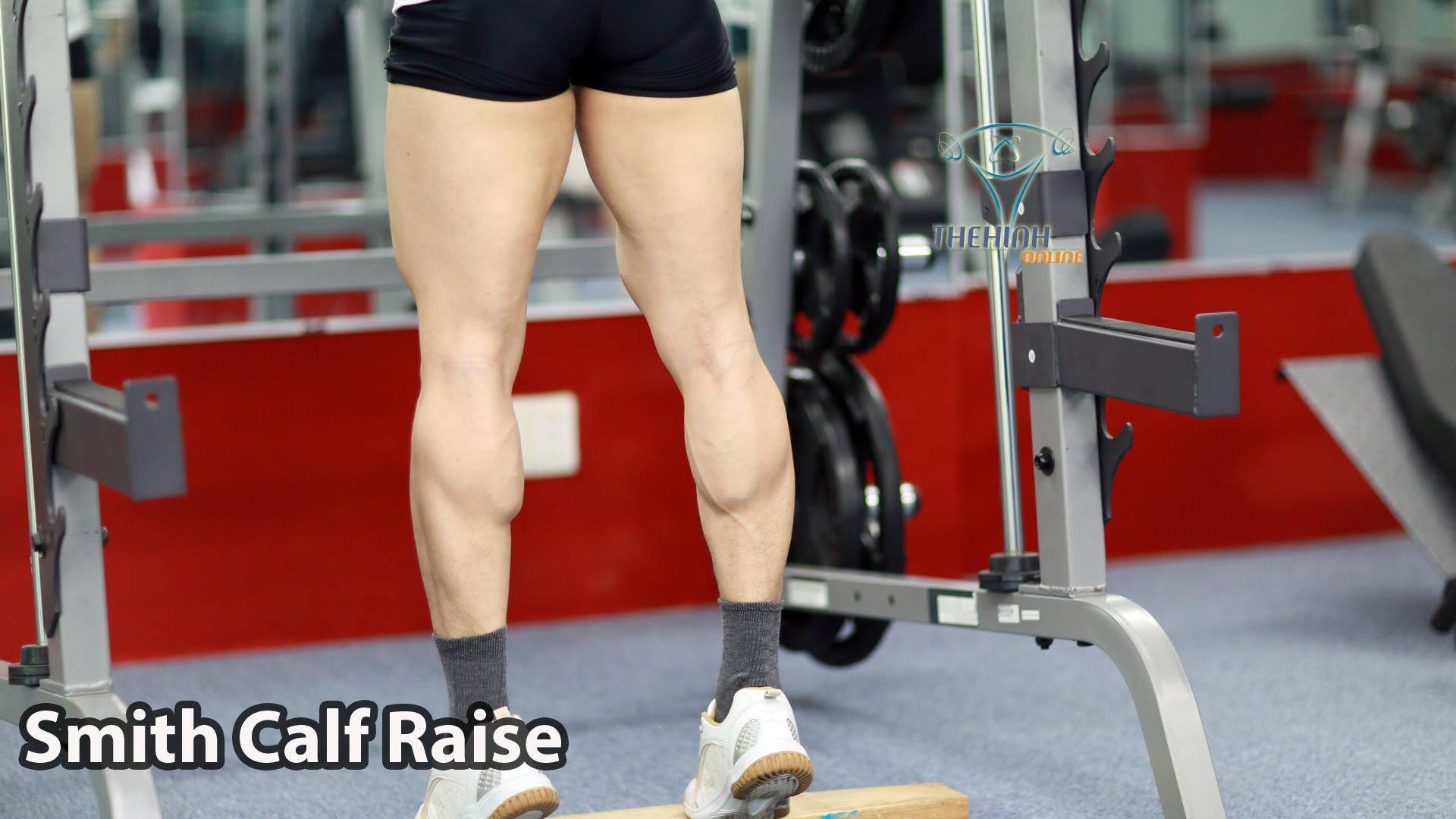 Video Smith Calf Raise Tập Thể Hình Cơ Bắp Chân