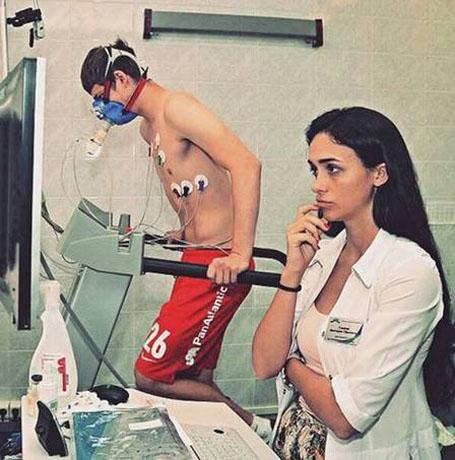 Nữ bác sĩ xinh đẹp Viktoriya Gameeva Spartak Moscow gây sốt