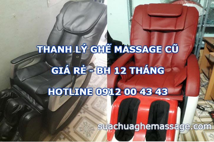 Thanh lý ghế massage cũ